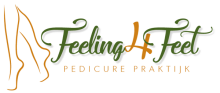 Het logo van pedicure praktijk Feeling4Feet in Ede
